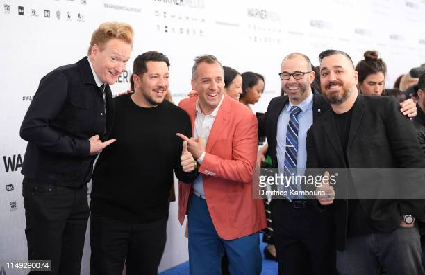 Conan O'Brien of TBS's CONAN Sal Vulcano Joe Gatto James Murray and Brian Quinn of TBS's Misery Index and truTV's Impractical Jokers attend the...