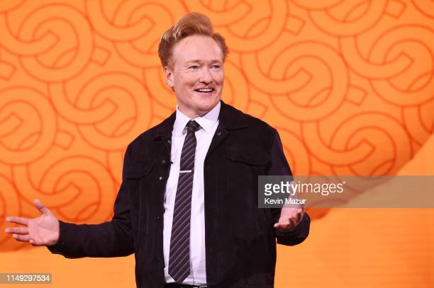 Conan O'Brien of TBS's CONAN speaks onstage during the WarnerMedia Upfront 2019 show at The Theater at Madison Square Garden on May 15, 2019 in New...