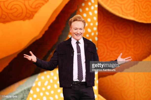 Conan O'Brien of TBS's CONAN speaks onstage during the WarnerMedia Upfront 2019 show at The Theater at Madison Square Garden on May 15 2019 in New...