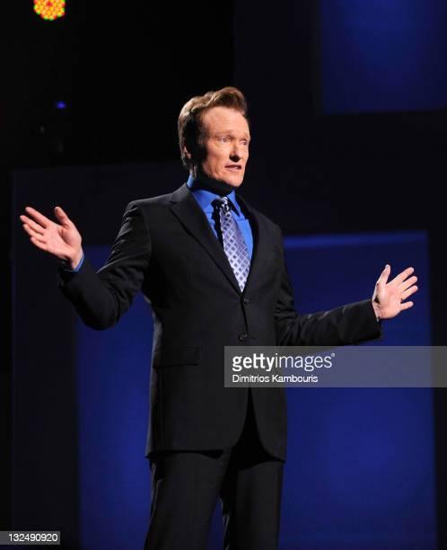 Conan O'Brien speaks onstage at the TEN Upfront 2011 at Hammerstein Ballroom on May 18 2011 in New York City 21147_007_DK_848JPG