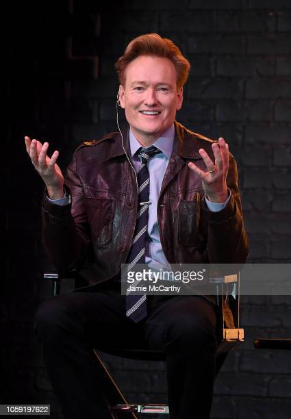 Conan O'Brien speaks onstage during Conan O'Brien In Conversation With Jake Tapper at Sony Hall on November 8, 2018 in New York City.