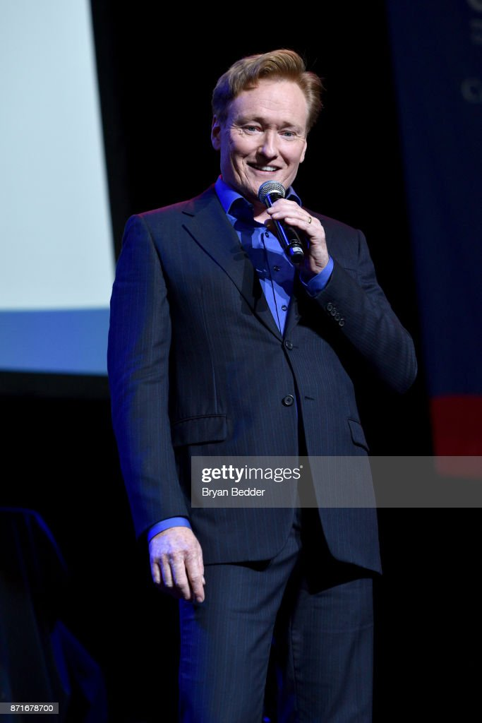 Conan O'Brien speaks onstage during the 11th Annual Stand Up for Heroes Event presented by The New York Comedy Festival and The Bob Woodruff Foundation at The Theater at Madison Square Garden on November 7, 2017 in New York City.