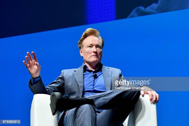 Conan O'Brien speaks onstage during the Turner session at the Cannes Lions Festival 2018 on June 20 2018 in Cannes France