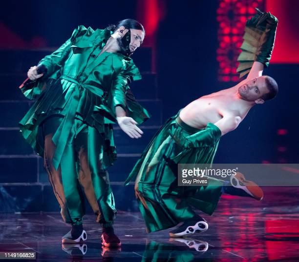 Conan Osiris of Portugal performs during the 64th annual Eurovision Song Contest held at Tel Aviv Fairgrounds on May 14 2019 in Tel Aviv Israel