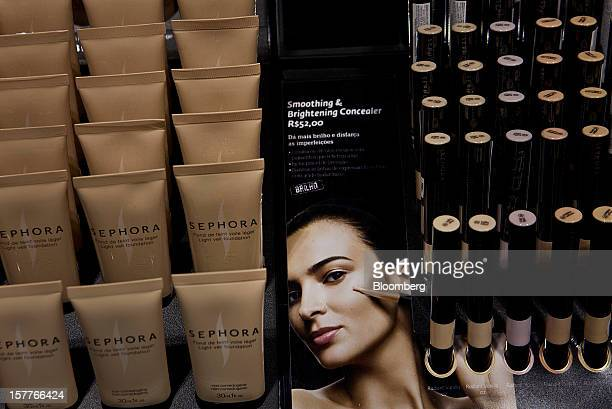 Concealer is displayed for sale during the opening of a Sephora SA store at the Riosul shopping mall in Rio de Janeiro Brazil on Wednesday Dec 5 2012...