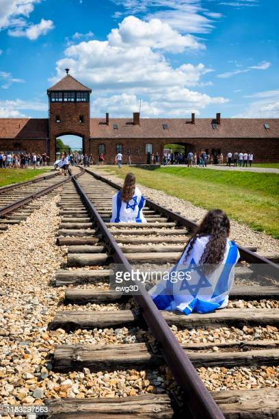 concentration camp auschwitz birkenau in oswiecim, poland - birkenau stock pictures, royalty-free photos & images