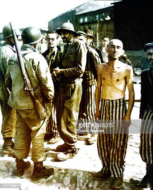 Concentration Camp Buchenwald, Former prisoners and soldiers of the U.S. 6th Armored Division, are talking about the liberation of the camp, the...