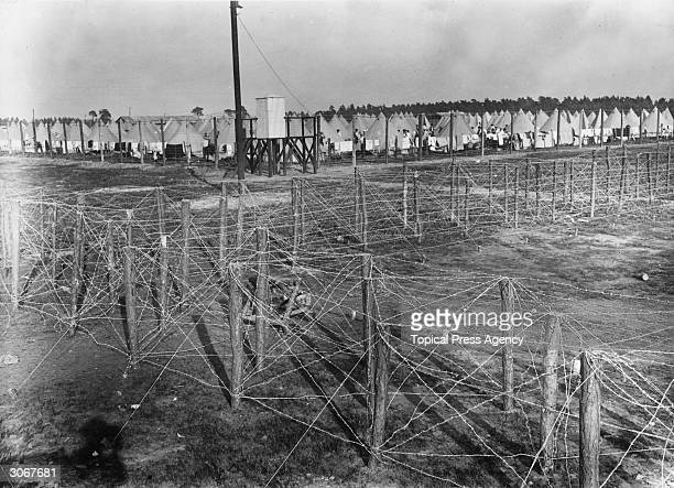 A concentration camp for German prisoners of war in Surrey