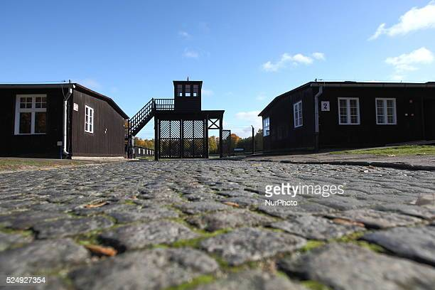Concentration camp Stutthof entry gate Hundreds of shoes and items of clothing have been found in the forest close to former Nazi German...