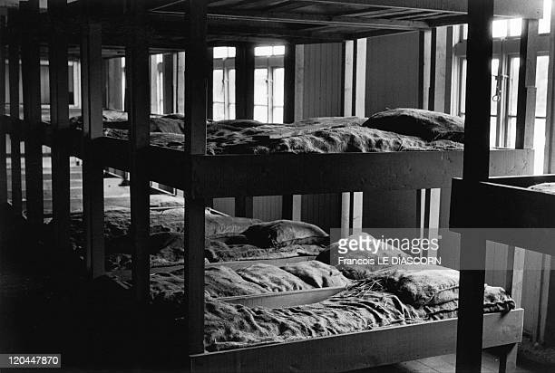 Concentration camps in Dachau Germany in 1990 This barracks which housed concentration camp victims still has the original hard mattresses of straw