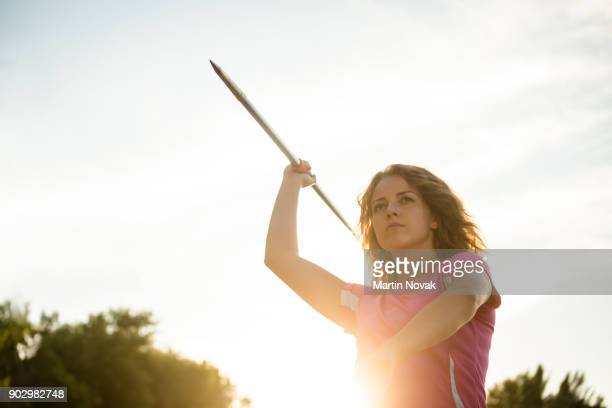 Concentration - woman with javelin
