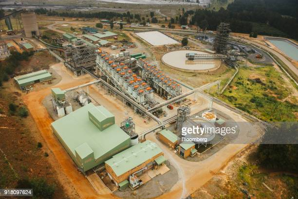 A concentrator refining plant stands at the Northam Platinum Ltd Booysendal platinum mine outside the town of Lydenburg in Mpumalanga South Africa on...