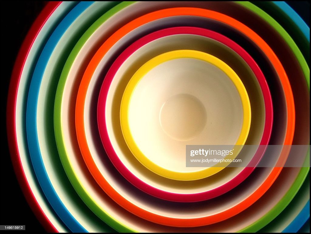 Concentric bowls : Stock Photo