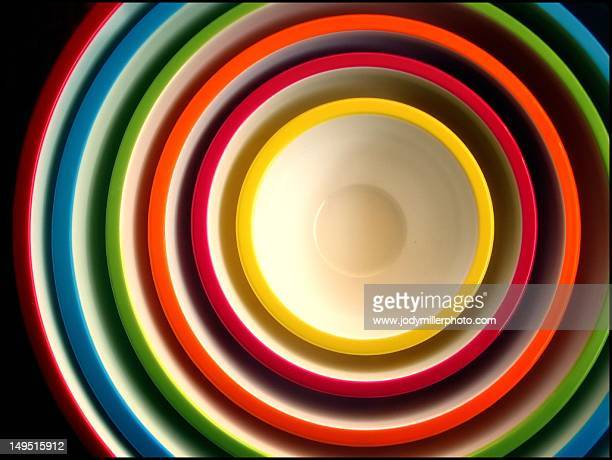 concentric bowls - concentric stock pictures, royalty-free photos & images