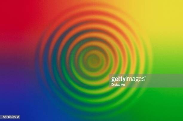 concentric circles in color field - concentric stock pictures, royalty-free photos & images