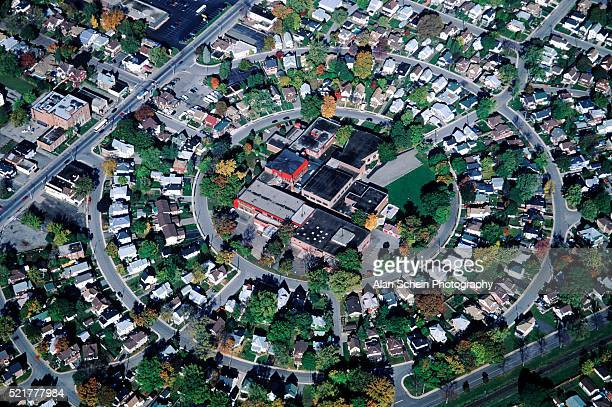 Concentric suburban homes