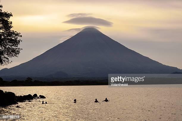 Concepción volcano w/ lake Nicaragua, in Ometepe