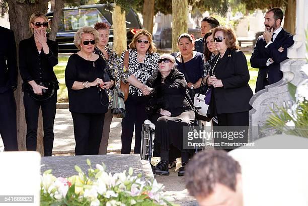 Concepcion de Mora and Belen Garcia attend the funeral for attend the funeral for King Alfonso XIII of Spain's extramarital son Leandro de Borbon who...