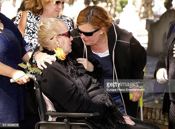 Concepcion de Mora and Blanca de Borbon attend the funeral for King Alfonso XIII of Spain's extramarital son Leandro de Borbon who died at 87 years...