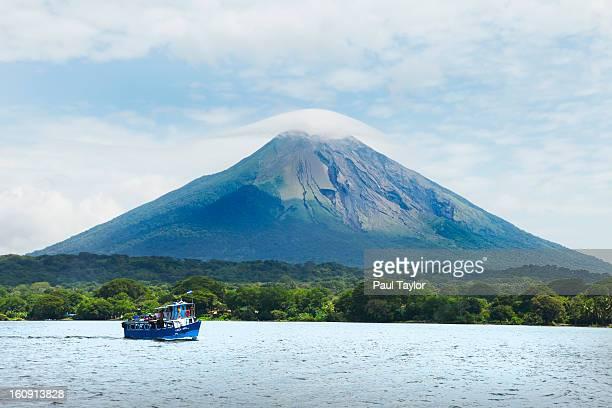 Concepcion Volcano with Boat