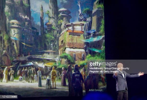Concept art of the newly announced Star Wars Land at the D23 Expo in Anaheim on Saturday Bob Chapek chairman of Walt Disney Parks and Resorts said on...