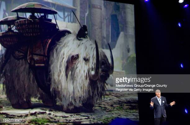 Concept art showing a Bantha from the Star Wars films was shown at the D23 Expo in Anaheim on Saturday August 2015 Bob Chapek chairman of Walt Disney...