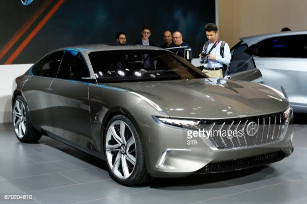 A concept car from Hybrid Kinetic Group is displayed during the first day of the 17th Shanghai International Automobile Industry Exhibition in...