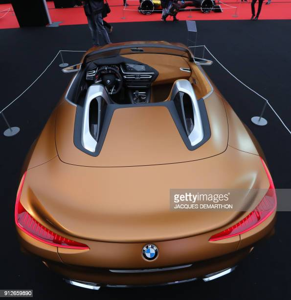 Z4 concept car is displayed at The International Automobile Festival in Paris on January 31 2018 / AFP PHOTO / JACQUES DEMARTHON