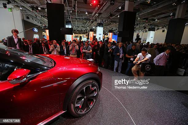 Concept car Koreu of MAZDA Motor Corporation is displayed during the Frankfurt Motor Show on September 15 2015 in Frankfurt am Main Germany
