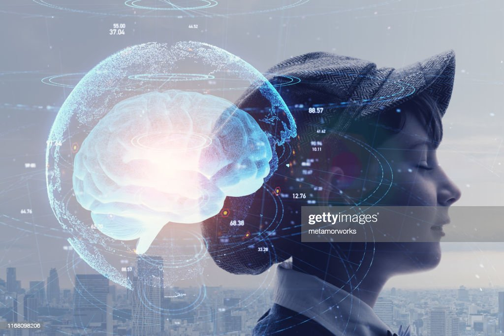 AI (Artificial Intelligence) concept. Education concept. : Stock Photo