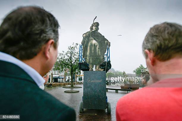 Concept for a statue of the 17th century painter Rembrandt van Rijn is presented on Wednesday July 15, 2015. The concept has been created by Jeroen...