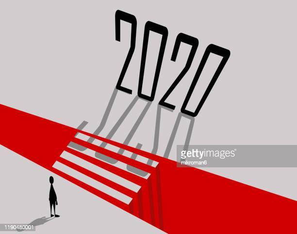 concept man looking to cross obstacle 2020 - thinking of you card stock pictures, royalty-free photos & images