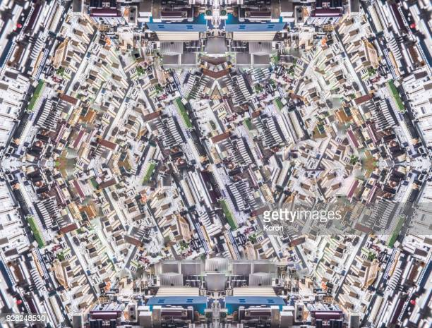 AI concept, microchip motherboard glitch pattern
