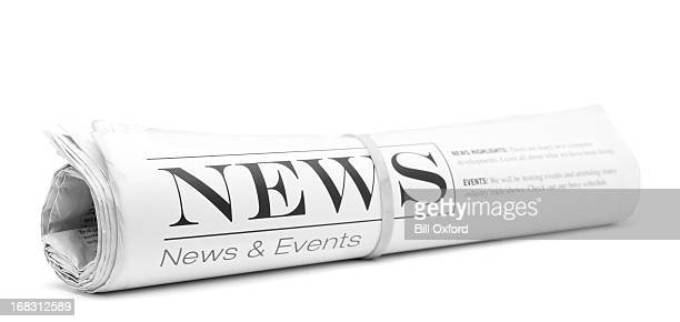 concept newspaper, rolled up - rolled up stock pictures, royalty-free photos & images