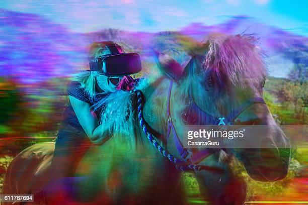 VR Concept of a Horseback riding