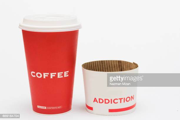 a concept of coffee addiction among people nowadays. - long sleeved stock pictures, royalty-free photos & images