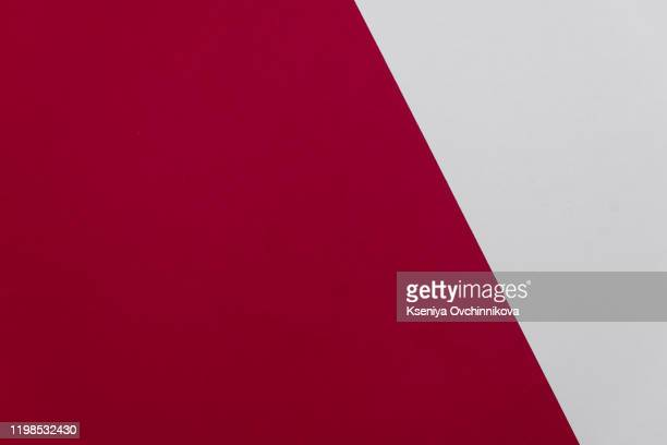 concept of color cards on white background two colors gray and burgundy isolate on white background. - maroon stock pictures, royalty-free photos & images