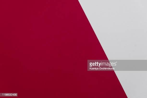 concept of color cards on white background two colors gray and burgundy isolate on white background. - cor de vinho imagens e fotografias de stock
