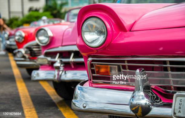 concept of cuba attractions. headlight of old car in havana, cuba - restoring stock pictures, royalty-free photos & images