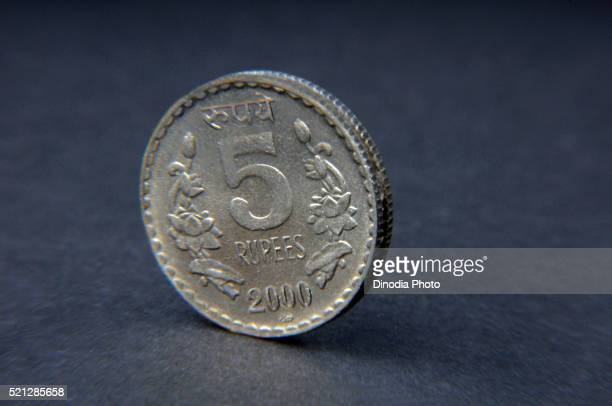 Concept of Indian coin Five Rupee, India, Asia
