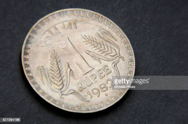 Concept Of Indian Currency One Ru Coin India Asia