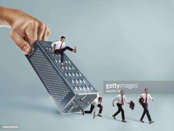 Concept d'épreuves et de difficultés d'une carrière dans les affaires d'un homme d'affaires