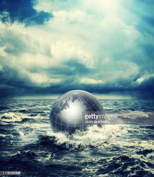 concept of world in ocean - despair stock pictures, royalty-free photos & images