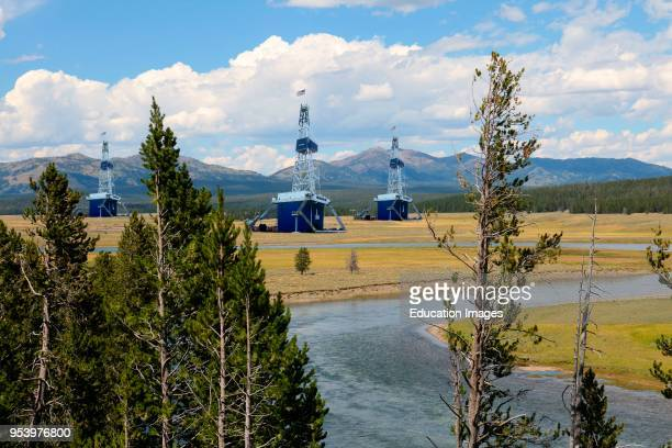 Concept photo illustration visualizing one result of selling off public lands such as national parks or monuments to private industry for drilling...