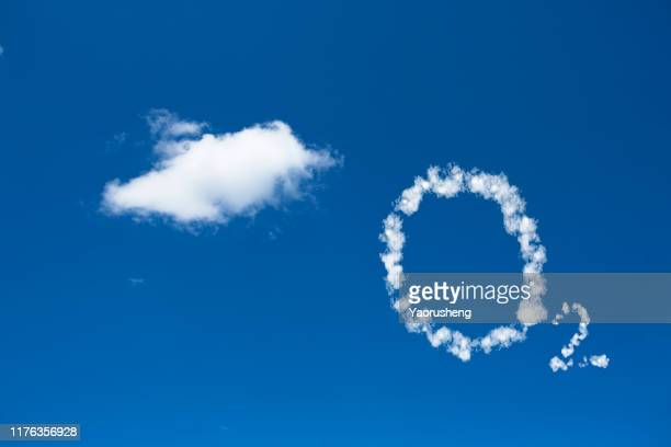 concept photo: oxygen with white cloud - oxygen stock pictures, royalty-free photos & images