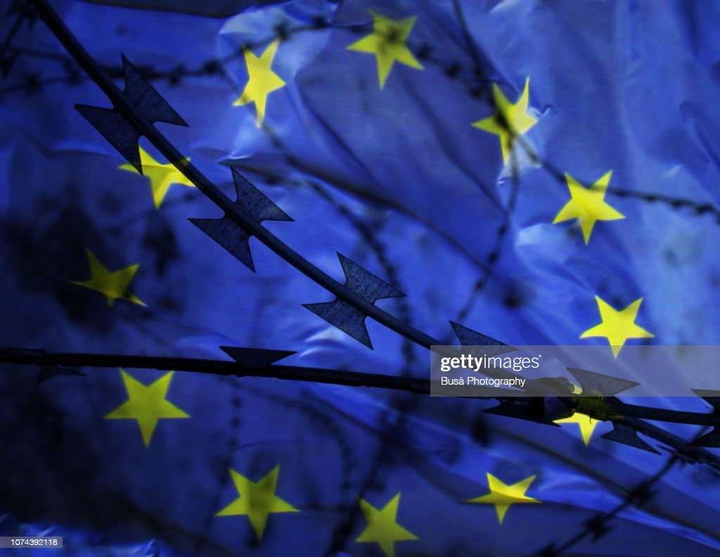 Concept: The Crisis of the European Union : ストックフォト