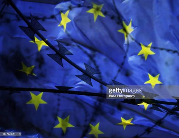 concept: the crisis of the european union - ユーロ圏 ストックフォトと画像