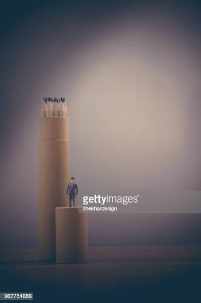 Concept with Human figurine
