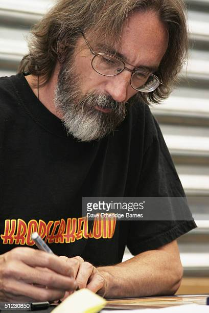 Conceptual Artist John Howe is seen at The Fellowship Festival 2004 aimed at J R R Tolkien fans at Alexandra Palace on August 28 2004 in London The...