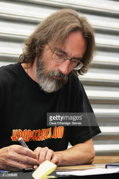 Conceptual Artist John Howe signs autographs at The Fellowship Festival 2004 aimed at J R R Tolkien fans at Alexandra Palace on August 28 2004 in...